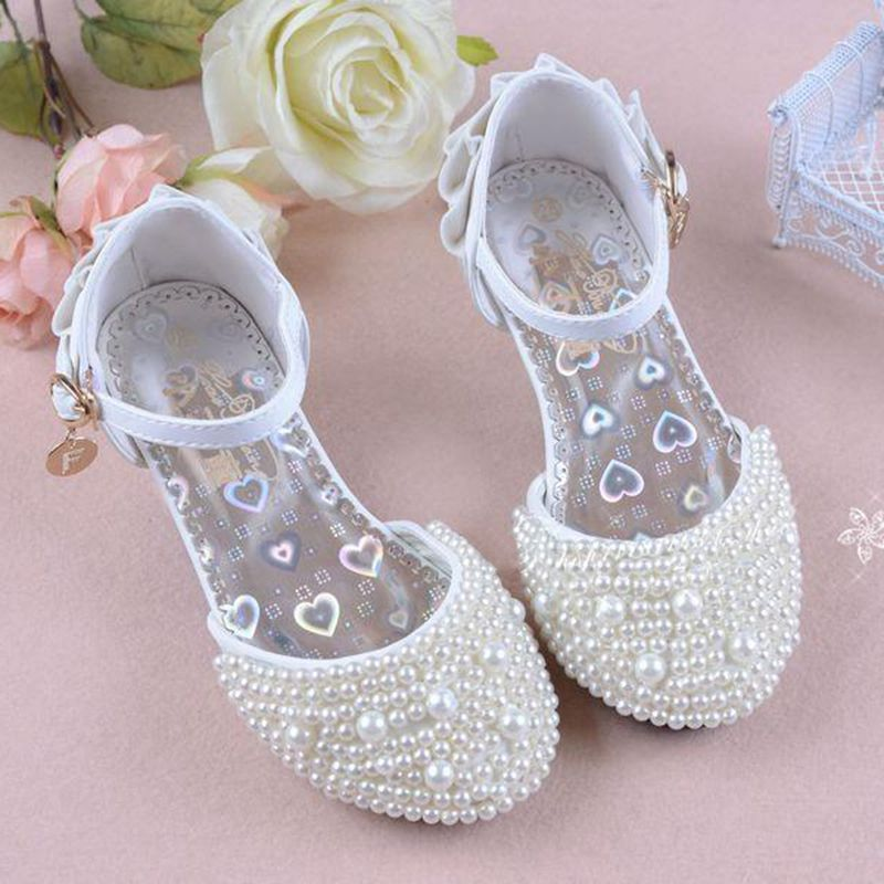 Click To Buy 2016 Summer Wedding Flower Girls Shoes High Heeled