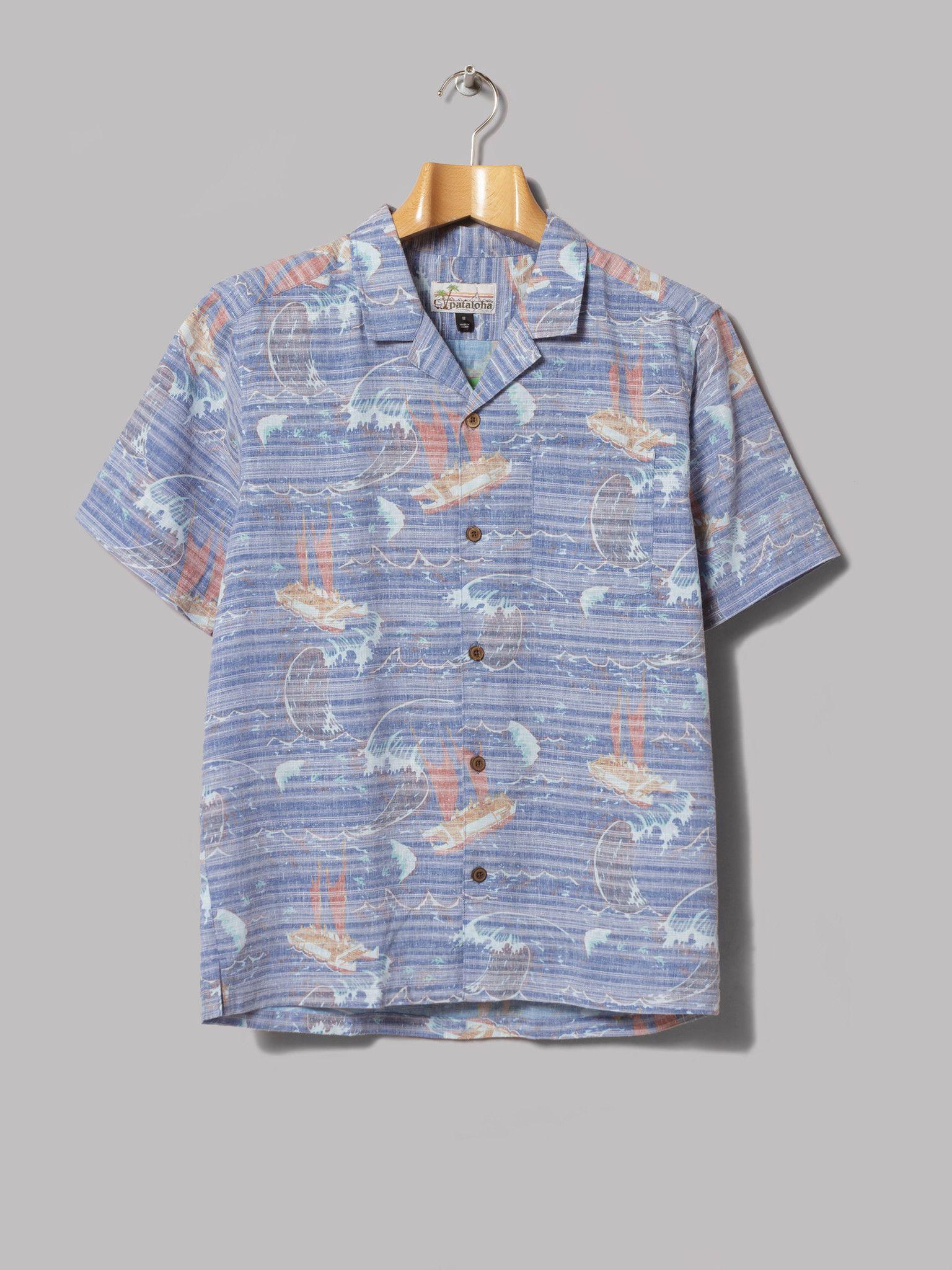 71797222 Patagonia Pataloha Shirt (Voyage Superior Blue) Uk Shop, Patagonia, Men's  Style,