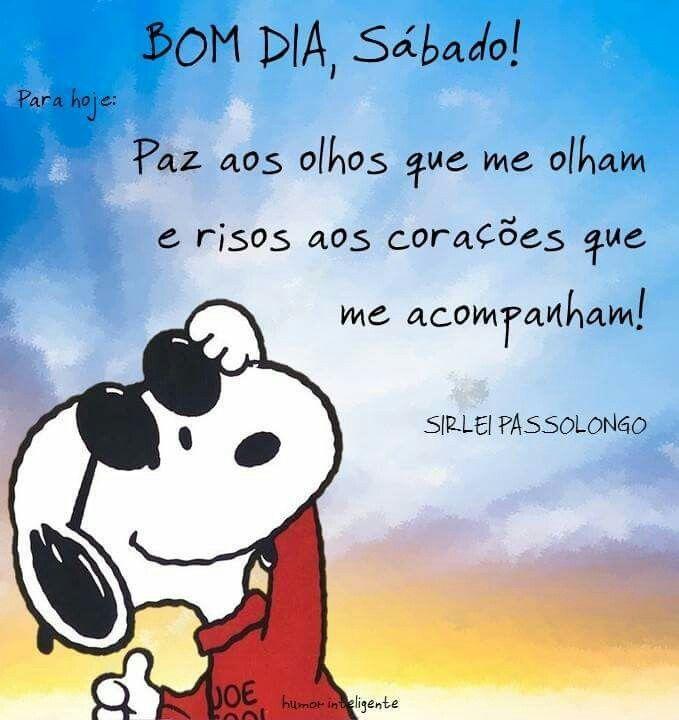 Sábado Bom Dia Sabado Snoopy Frases De Bom Dia E