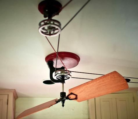 Appliances Ceiling Fans From Woolen Mill Fan Company Remodelista Belt Driven Ceiling Fans Steampunk Ceiling Fan Ceiling Fan