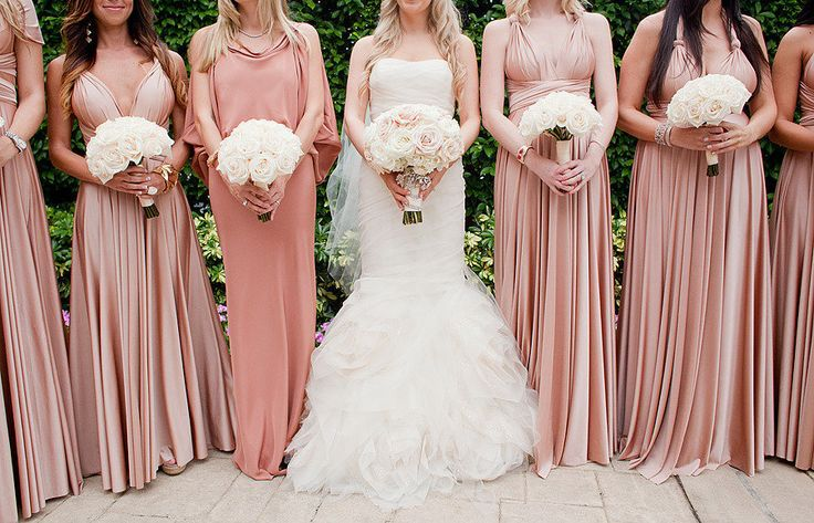 Rose gold bridesmaid dresses …  767fe5535