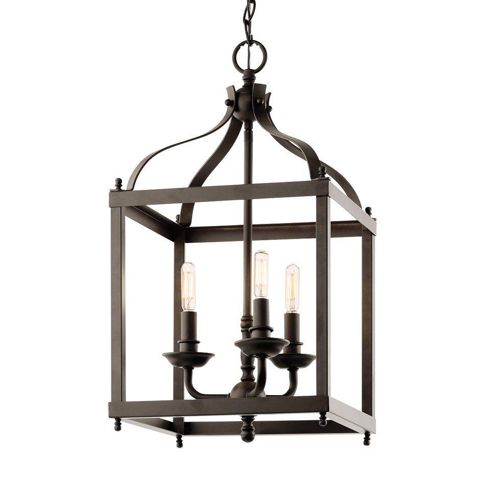 shop kichler lighting 42566 3-light larkin foyer pendant at lowe's