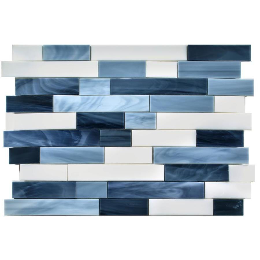 Oceanside Glass & Tile Oceancraft Linear Mosaic Glass Wall Tile ...