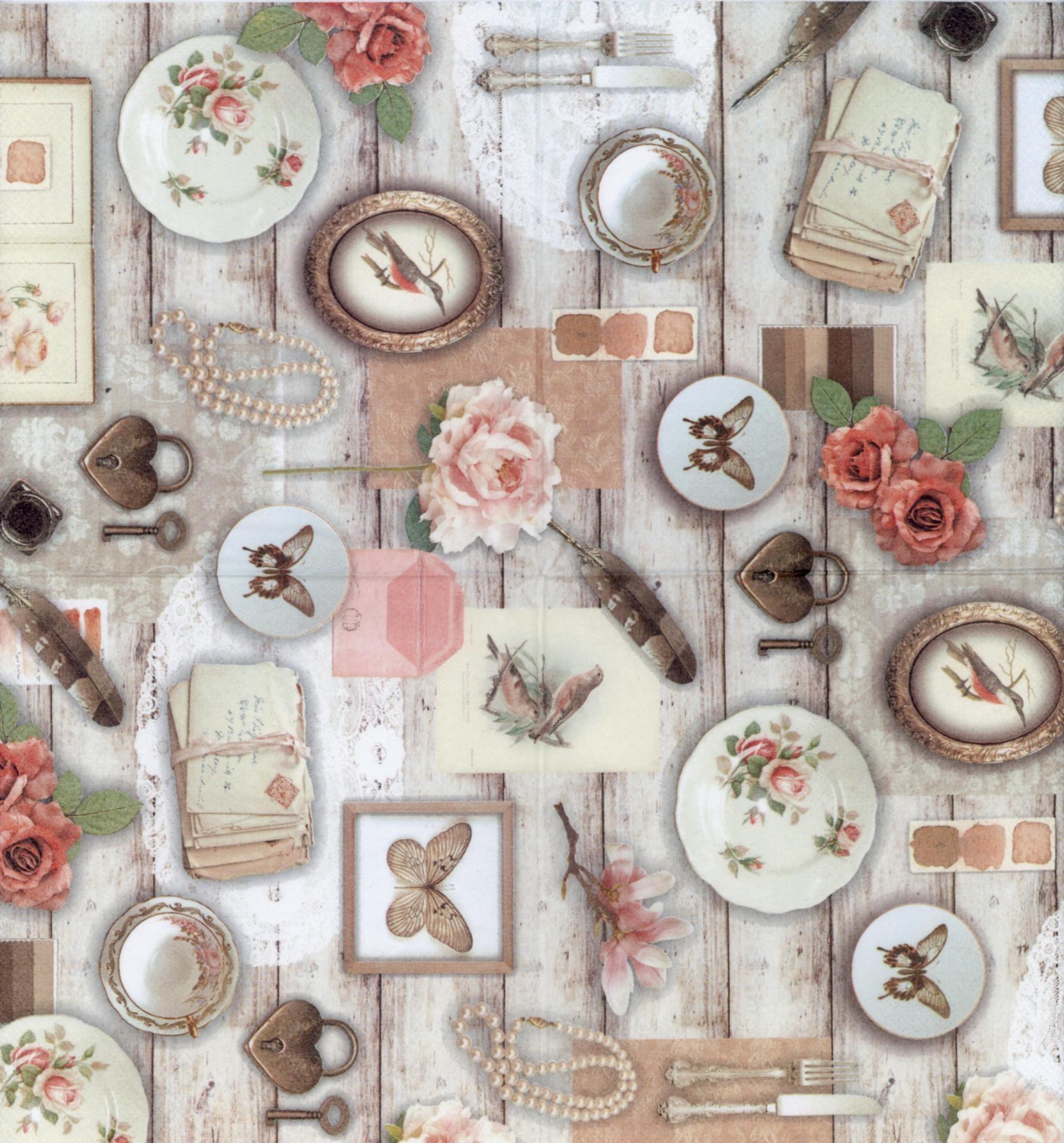 Decoupage Paper Napkins of vintage photos  Luncheon decorative