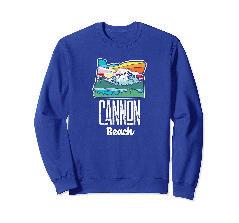Cannon Beach Vintage Oregon Nature & Outdoors Retro Sweatshirt #craterlakenationalpark