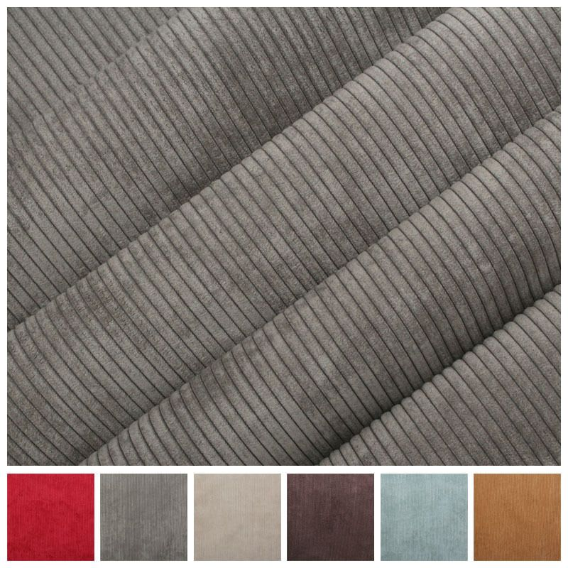Luxury Corduroy Thin Stripe Needlecord Velvet Curtain Cushion