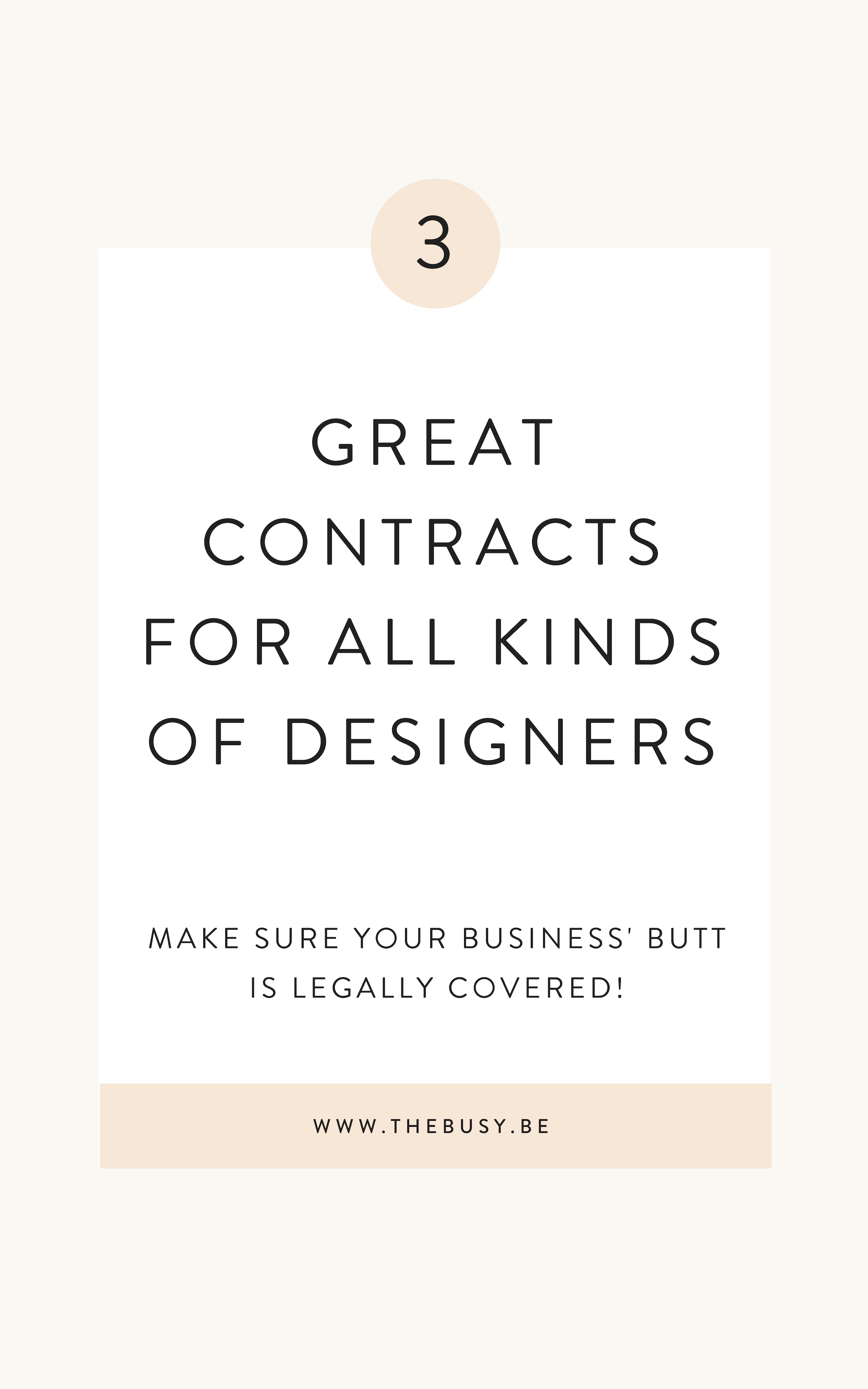 My 3 Favorite Contracts For Designers The Busy Bee Web Design Contract Graphic Design Business Graphic Design Tips