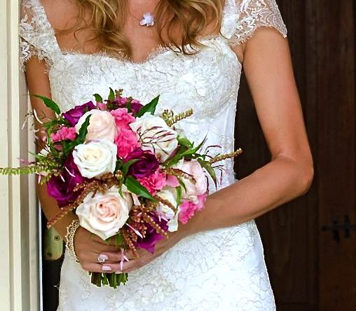 Loose & Natural Blush Pinks & Purple  Ellen Snyder Floral Design  Barrie Fisher Photography