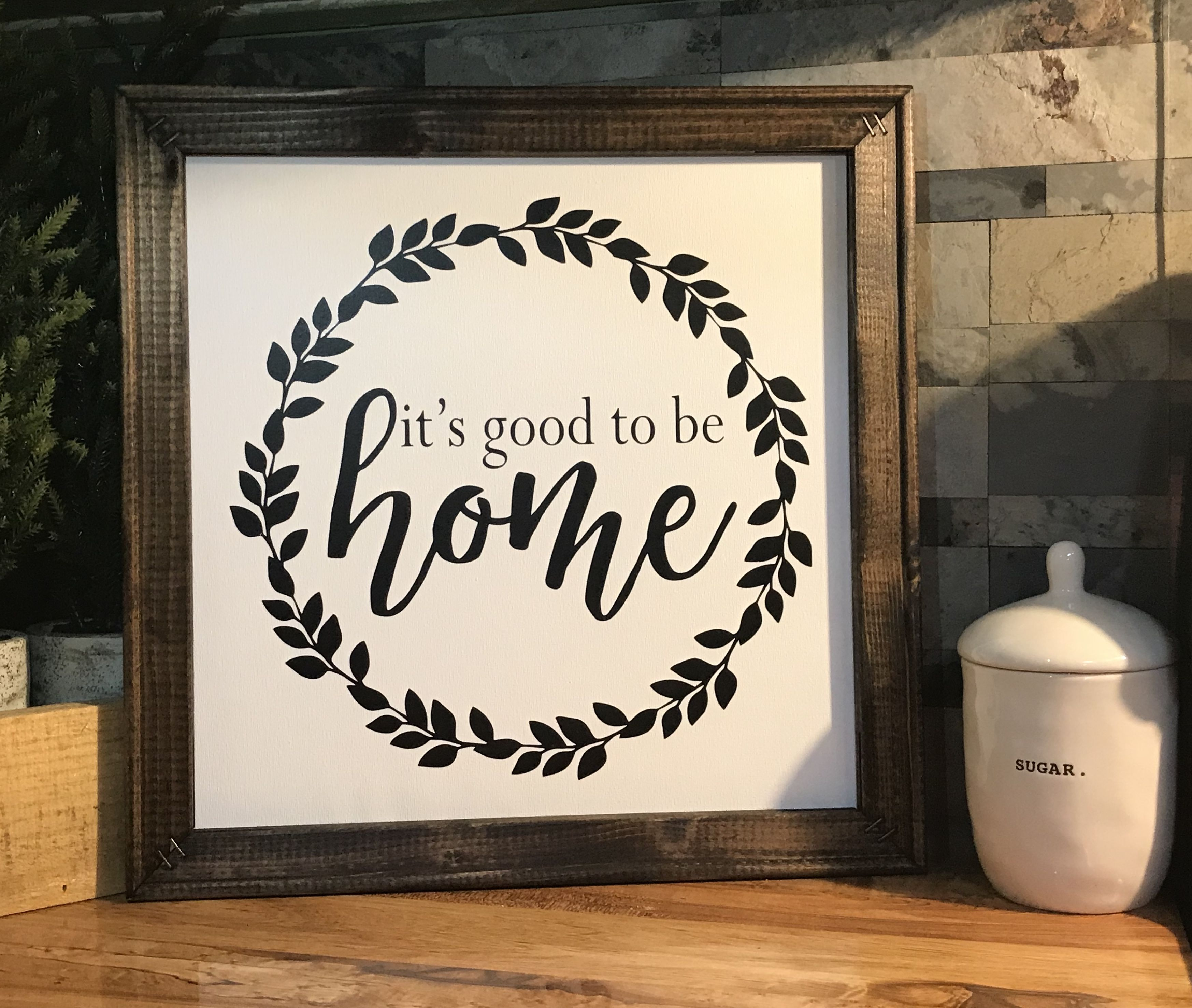 Reverse canvas sign, great wedding or new home gift! Check