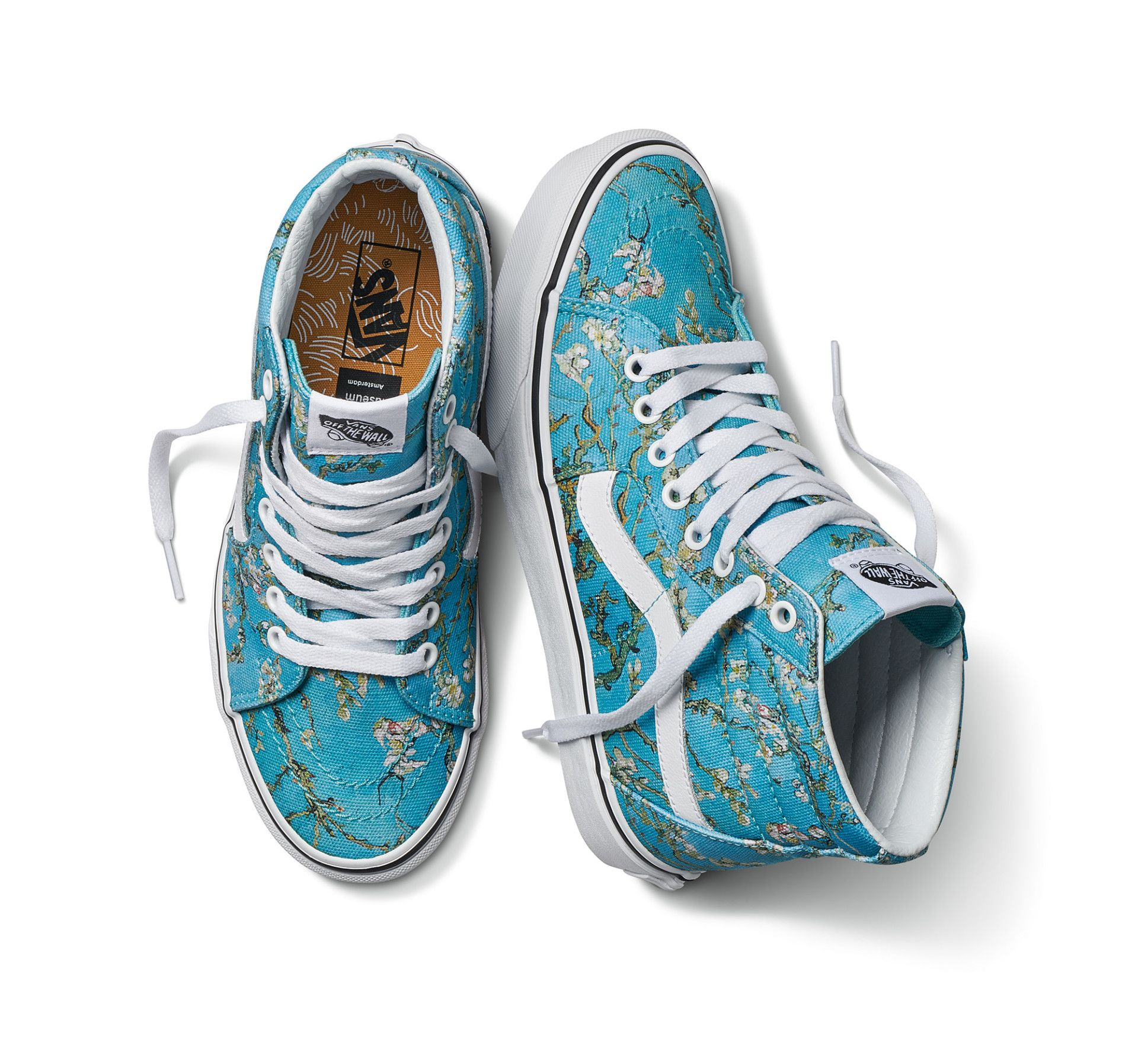The Van Gogh Museum And Vans Collaborate On A Wearable Collection Of Masterworks Colossal Vans Vans Sneakers Blue Vans