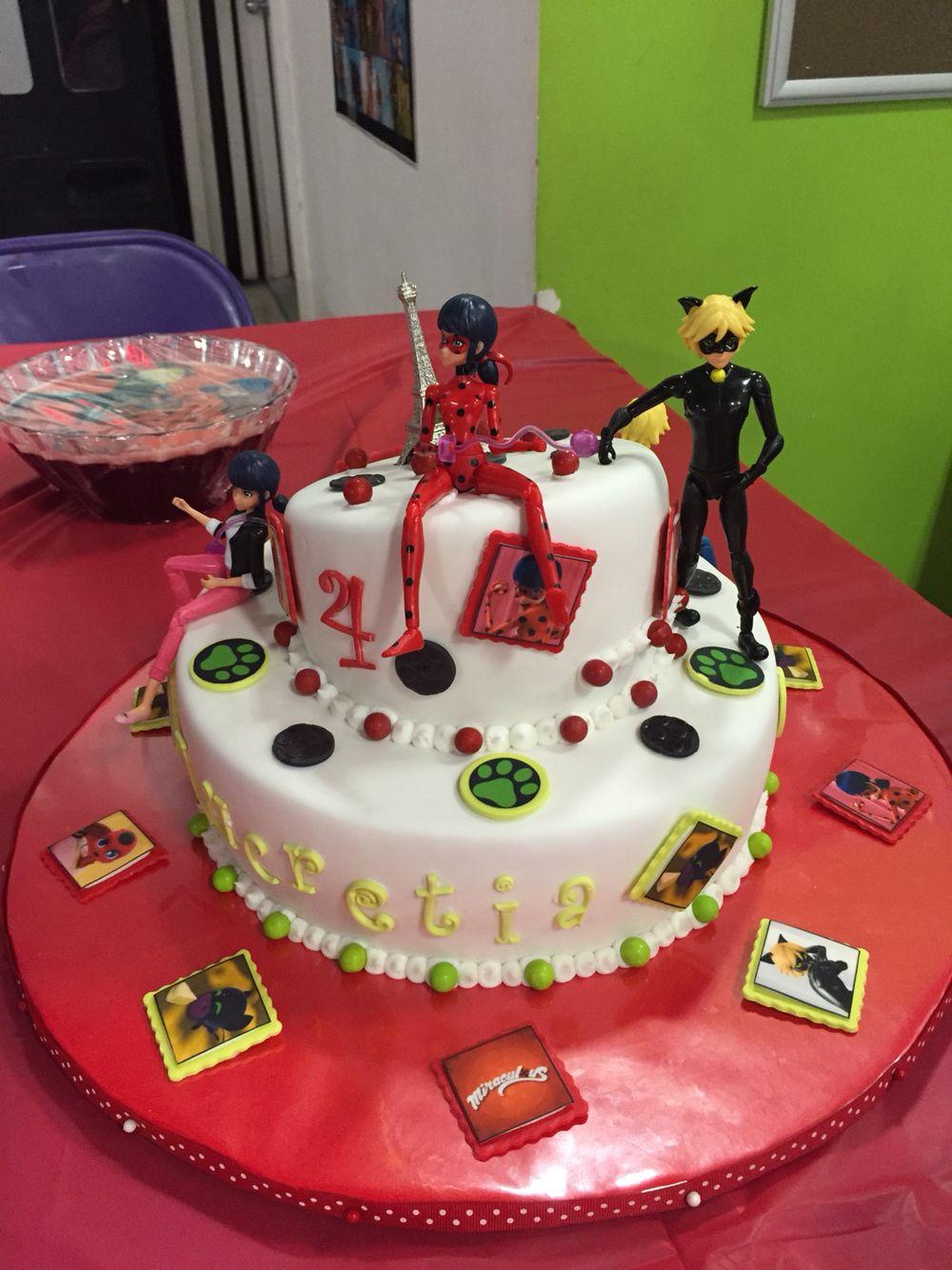 Marvelous Miraculous Ladybug Birthday Cake Ladybug Cakes Anime Cake 1St Personalised Birthday Cards Veneteletsinfo