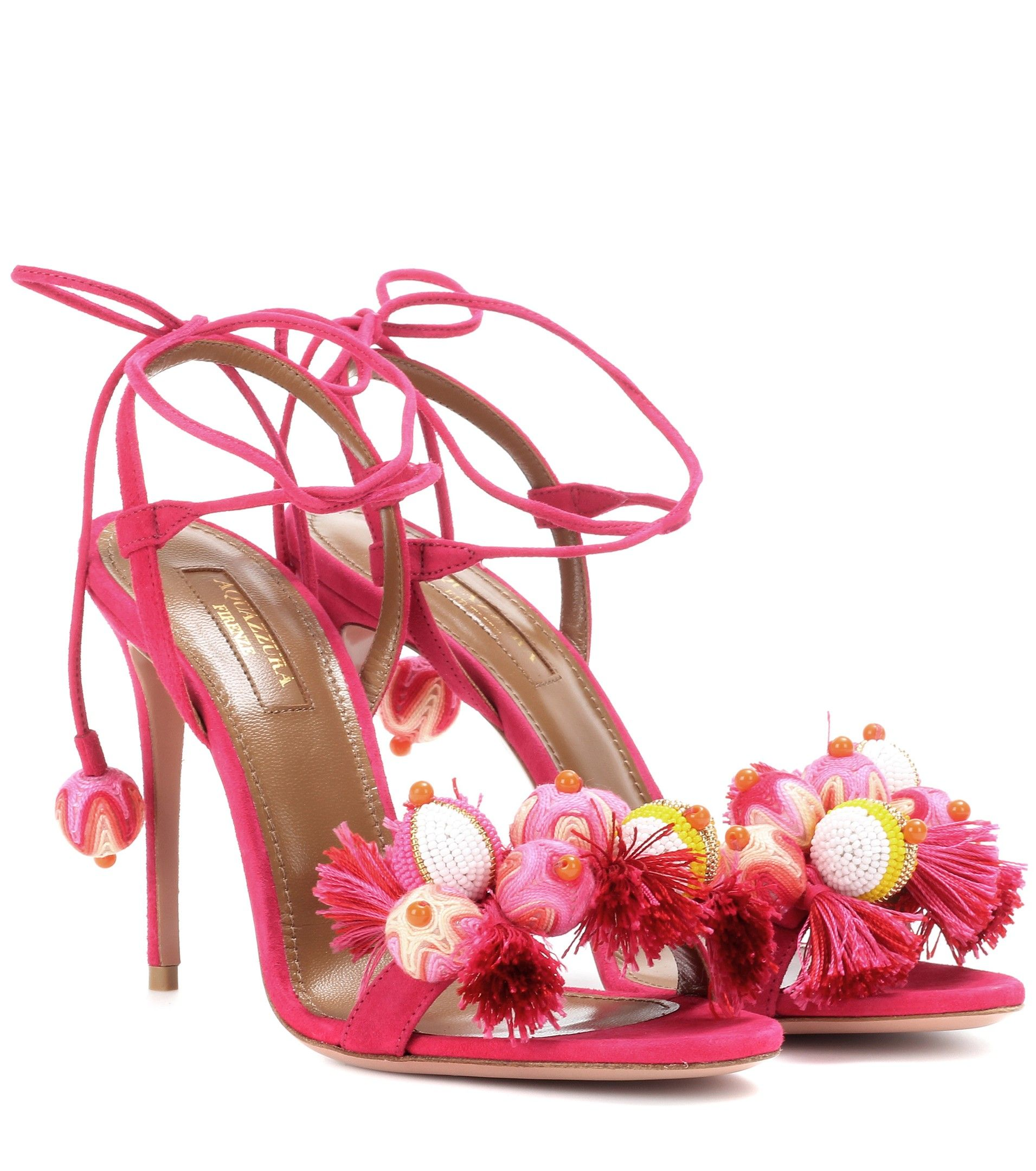 Aquazzura - Tropicana 105 suede sandals  3b9dce3c0ea2