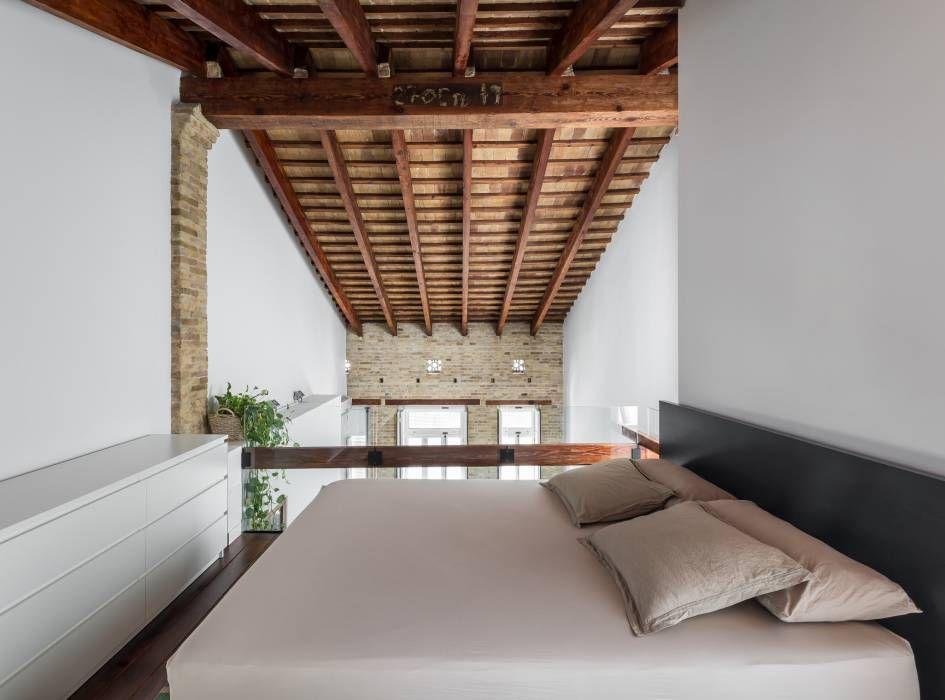 Fotos de Decoración y Diseño de Interiores Loft, Dormitorio y Taller - departamento de soltero moderno pequeo