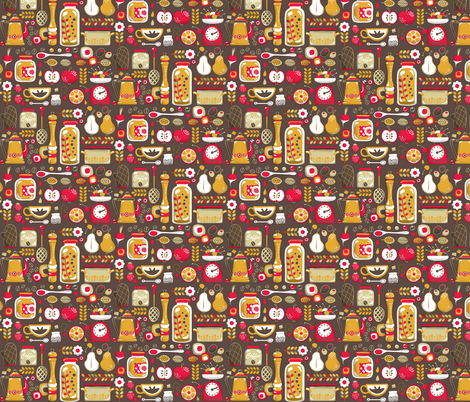 Mumu0027s Kitchen Fabric By Irrimiri On Spoonflower   Custom Fabric