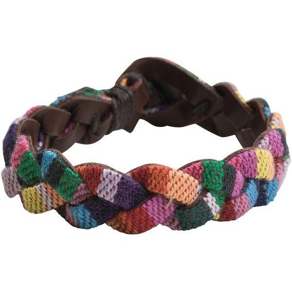 Festival braided leather bracelet - Polyvore