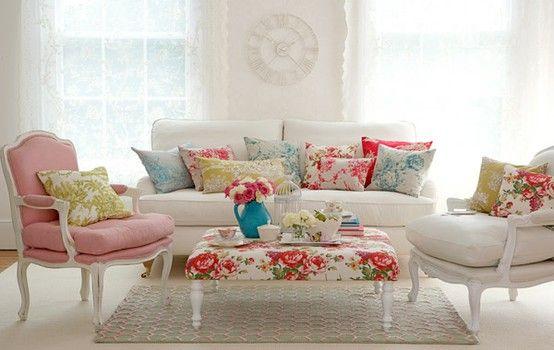 Floral Decor For Your Home Vintage Living Room Furniture