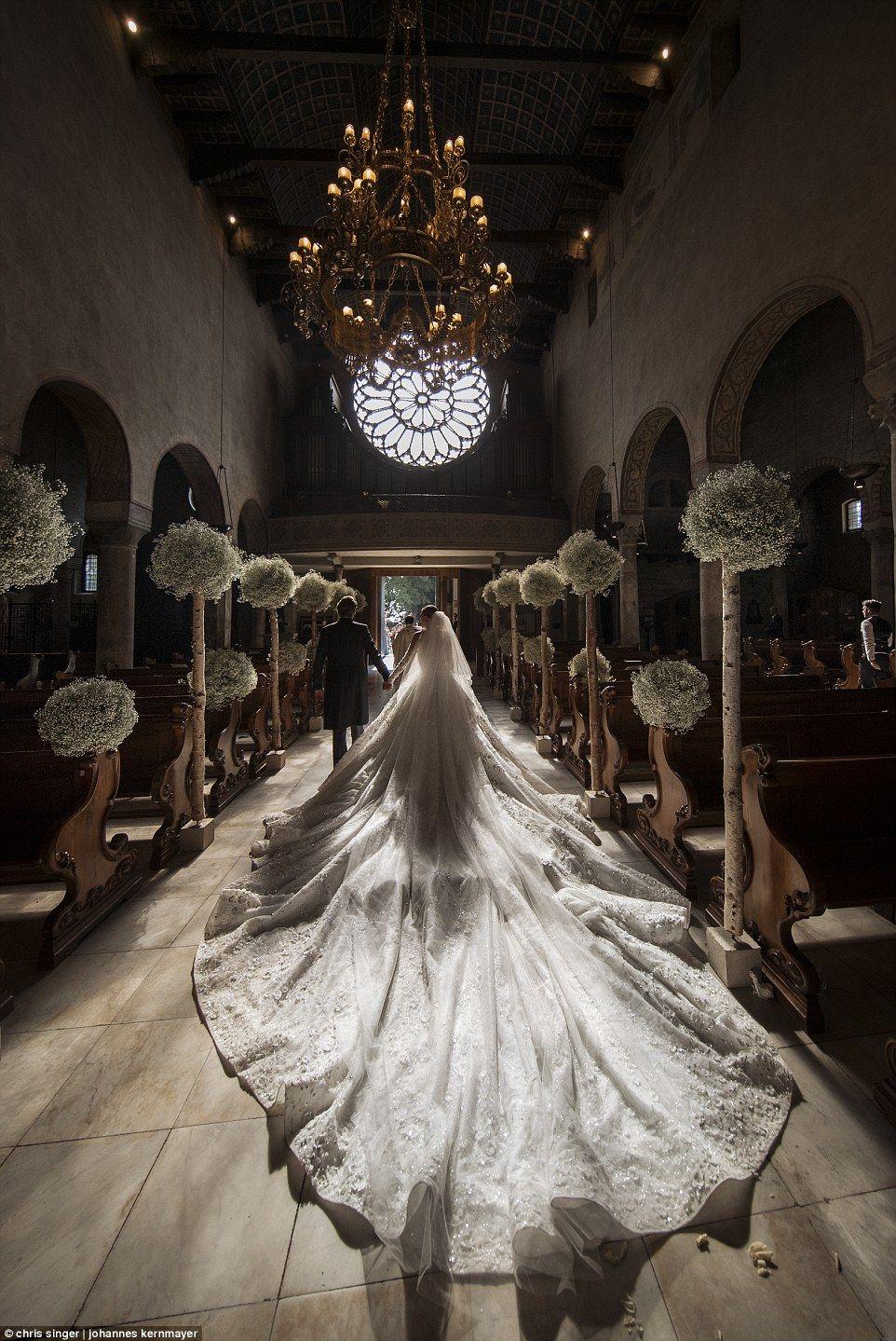 Gemstone heiress Victoria Swarovski marries in glittering event