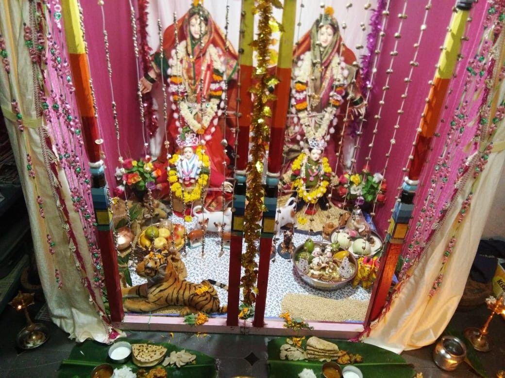 Gauri Ganpati Beautiful Decoration Tradition Of Maharashtra