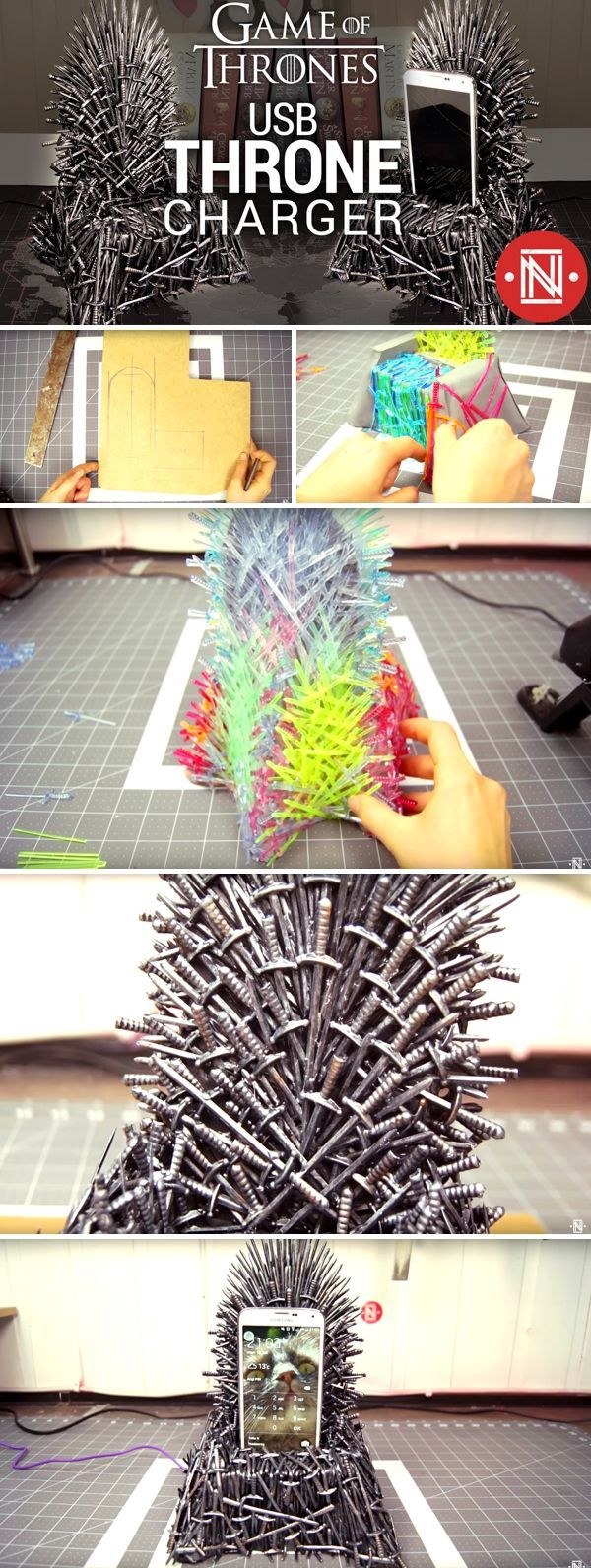 A Youtuber Just Designed An Iron Throne Phone Charger Made With