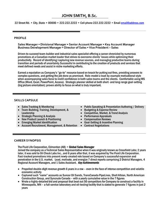 Resume Samples For Sales Executive Mesmerizing Click Here To Download This Sales Manager Resume Template Http .