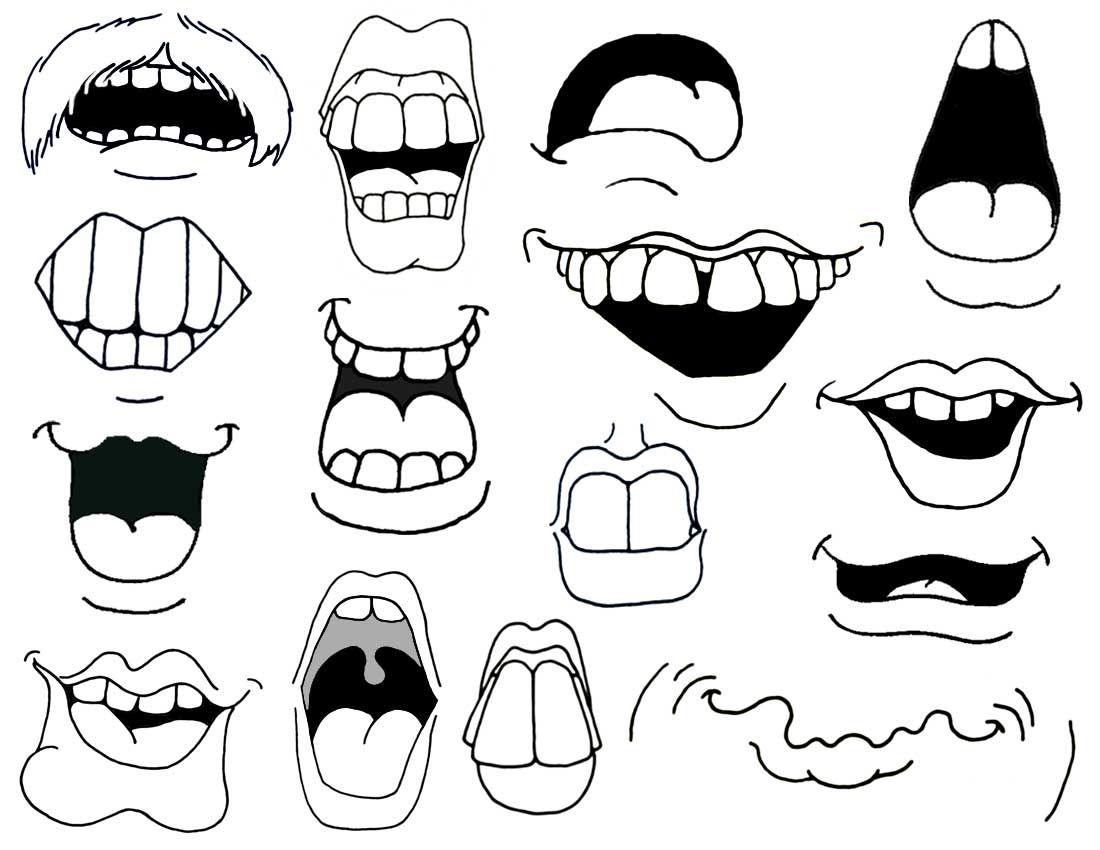 cartoon mouths | How to Draw Cartoon Mouths. | dibujos | Pinterest ...