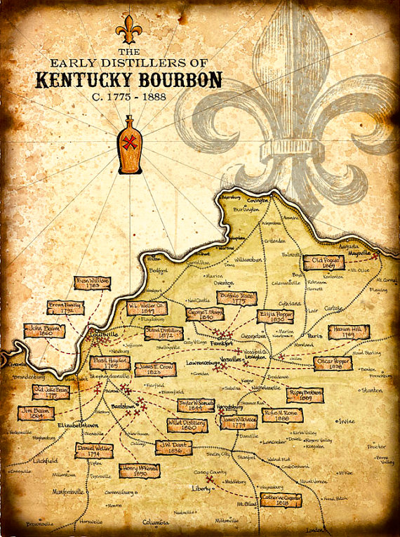 The Bourbon Trail Map