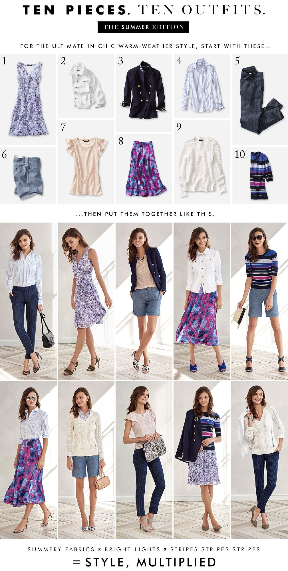 Banana Republic 10 Pieces 10 Outfits Capsule