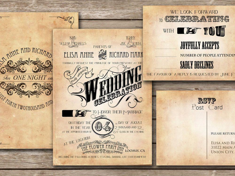 A Vintage-Inspired Wedding | Vintage wedding invitations, Vintage ...