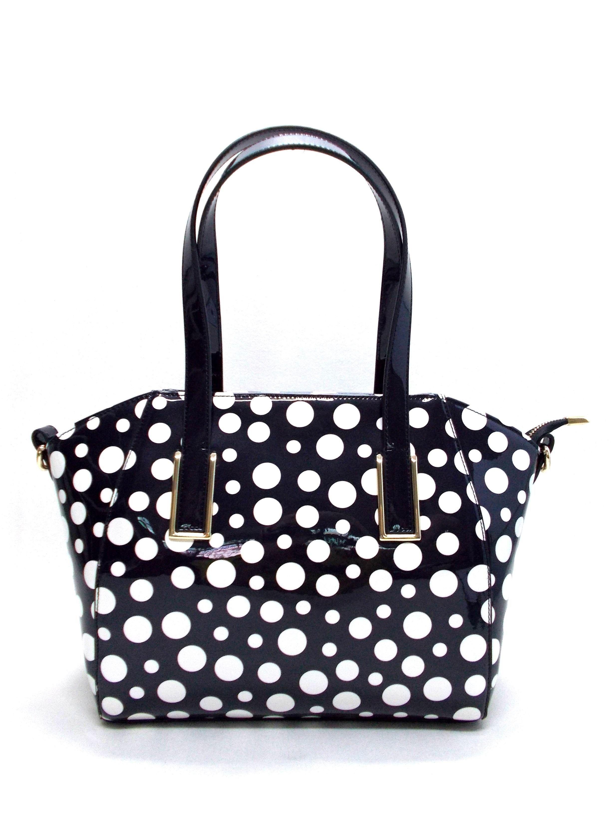 Love This Spotty Kelly Brown Handbag Tatum Black White Spots