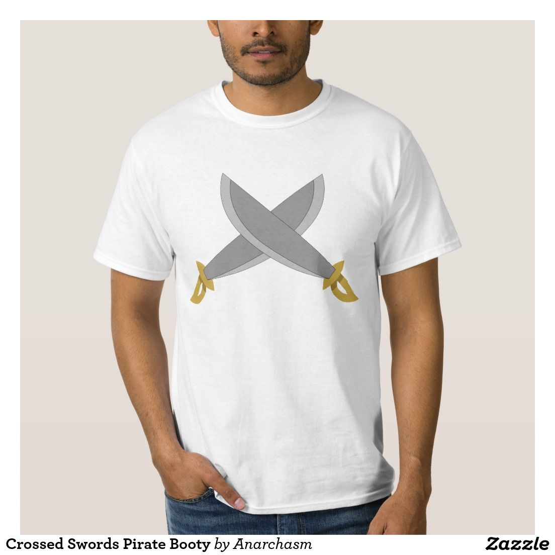 Crossed Swords Pirate Booty T-shirt