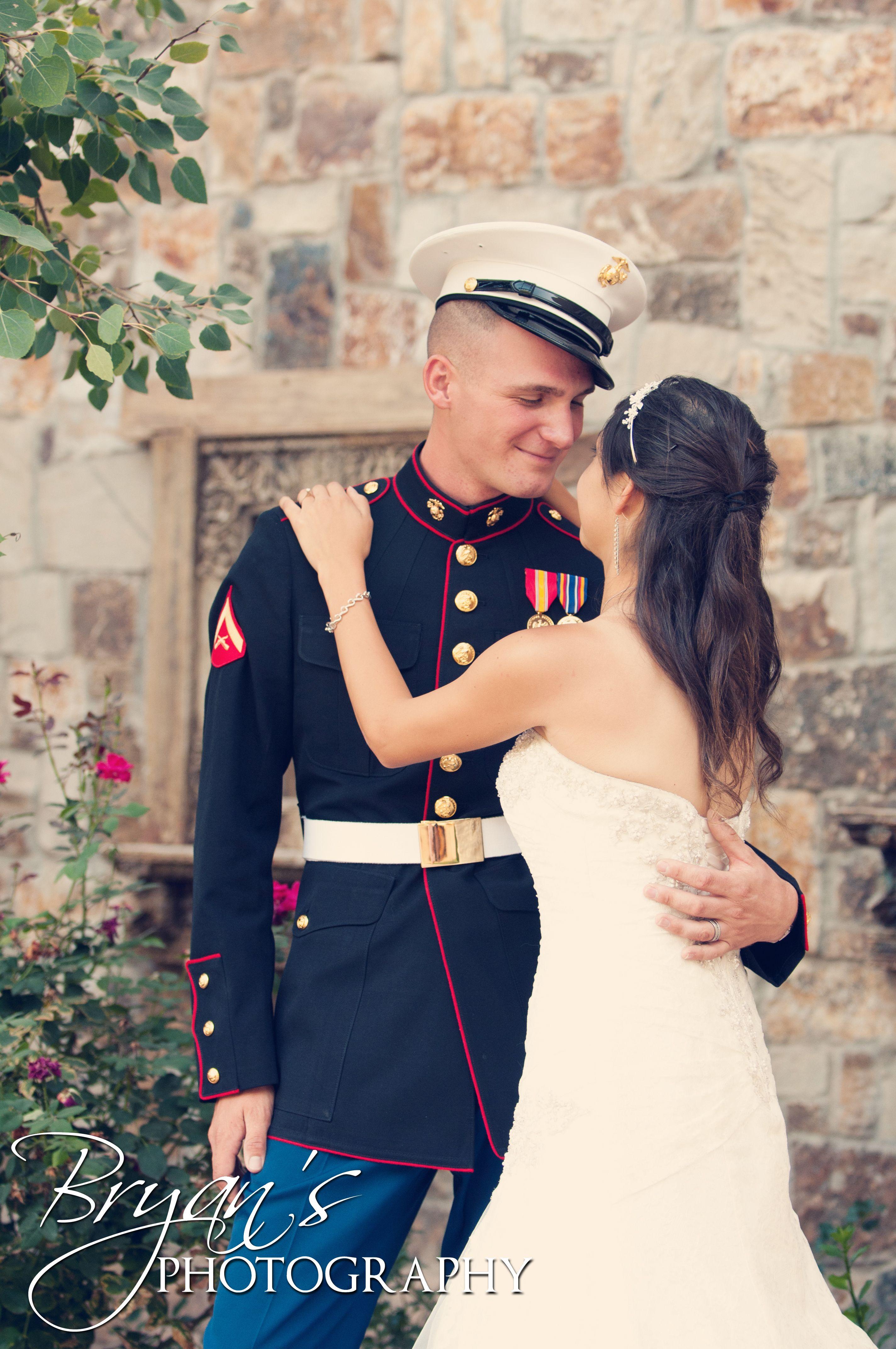Bryan's Photography Albuquerque New Mexico Marine Wedding Couple Dressblues Love Abq: Marine Dress Blues Wedding At Reisefeber.org