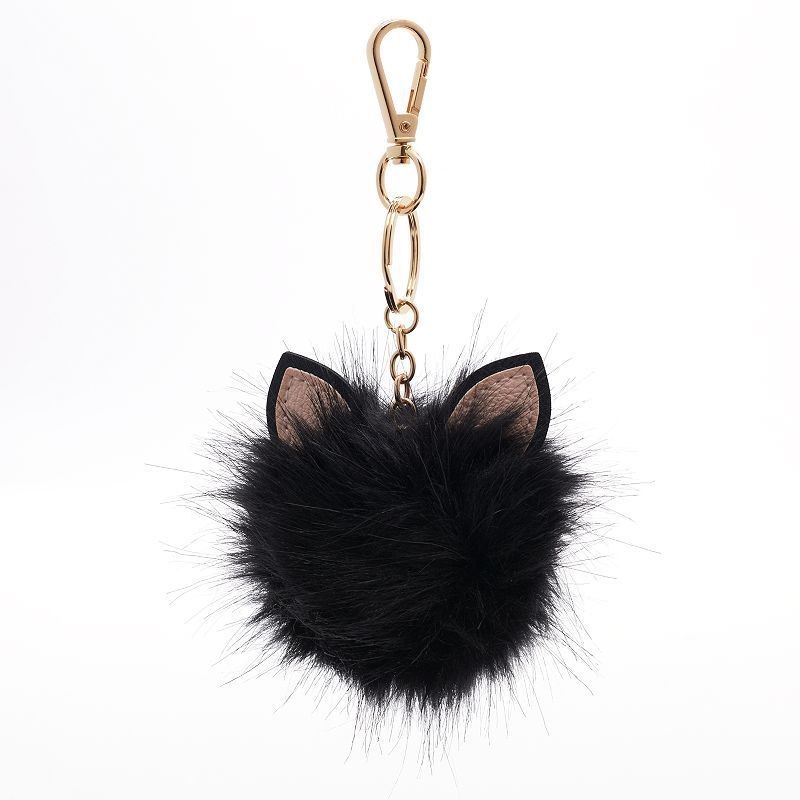 LC Lauren Conrad Cat Ear Faux Fur Pom Pom Key Chain  22836cfb7
