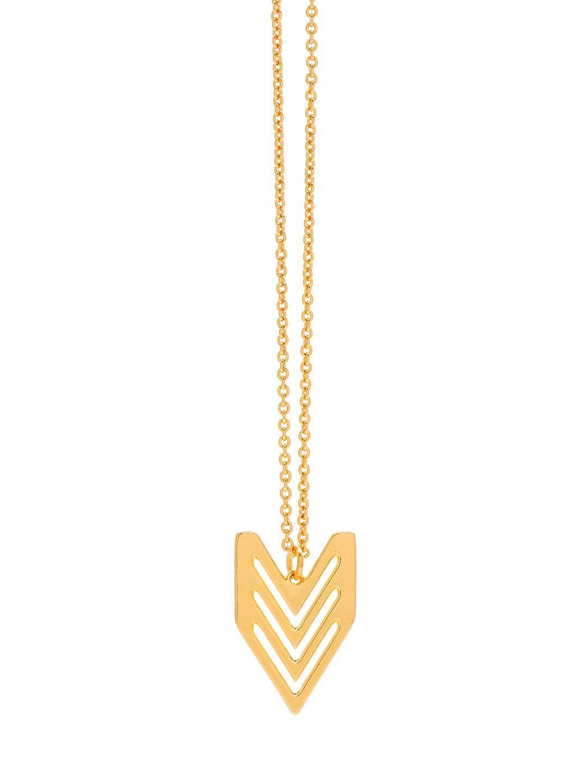 Chevron Tribal Pendant Necklace by Gorjana at Gilt