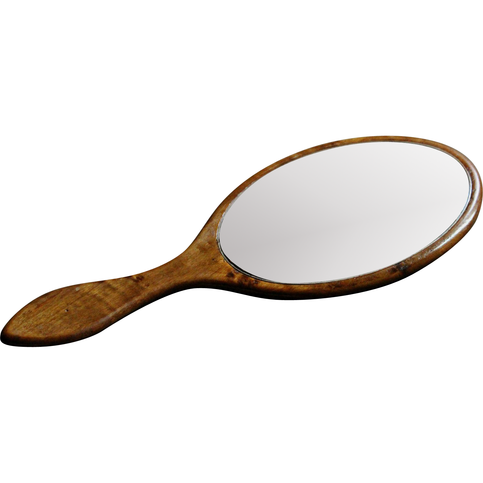 Antique English Hand Held Vanity Mirror Victorian Late