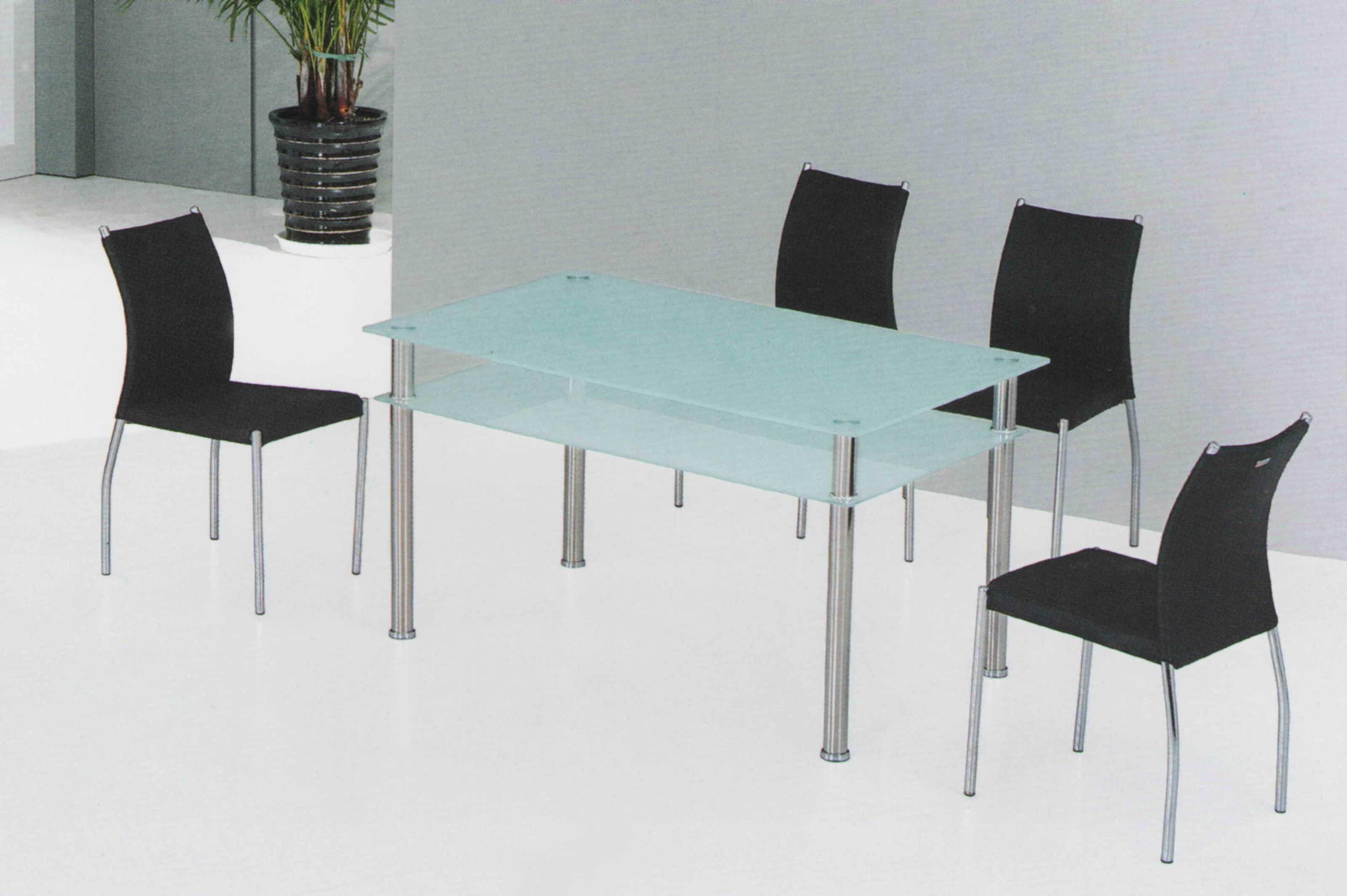 Schmale Glas Top Esstisch, Küchentisch Zum Verkauf Quadratischen ...