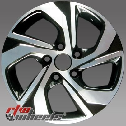 16 Honda Accord Oem Wheels 2016 2017 Machined Black Rims 64078