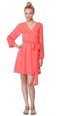nice - with heels, not sandals. Long Sleeve Wrap Dress by Joanna August