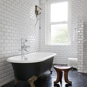 one fine stay bathrooms white subway tile subway tile ceiling height subway
