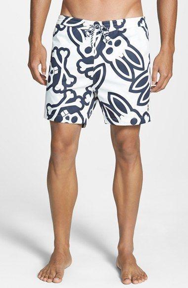 21e4febe62 Psycho Bunny 'Graphic Bunny Print' Swim Shorts available at #Nordstrom
