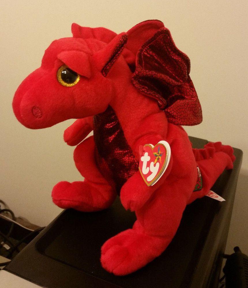 Ty Beanie Buddy - Y DDRAIG GOCH the Dragon (2015 Version) - UK EXCLUSIVE a25126afff9c