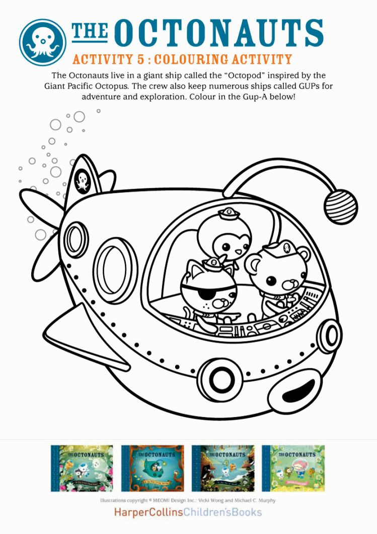 Octonauts Coloring Book | Coloring Pages | Pinterest | Coloring books