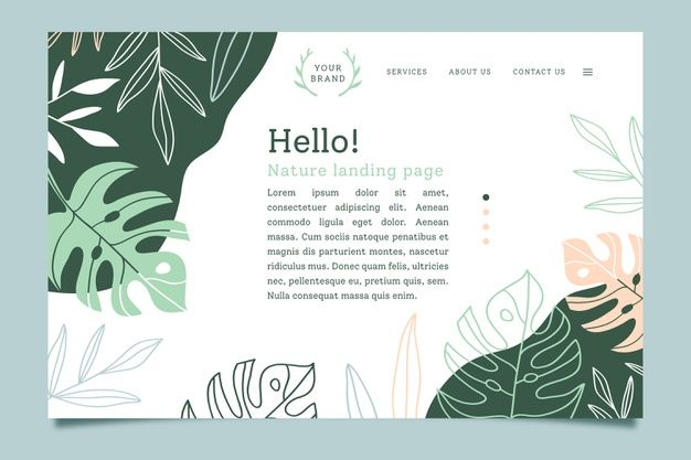 Landing Page With Nature Concept