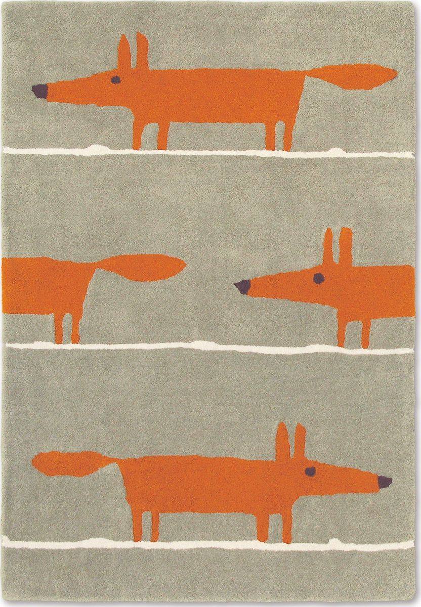 Retro Teppich Rund Scion Teppich Mr Fox Cinnamon 25303 Kinderkram Kids Rugs