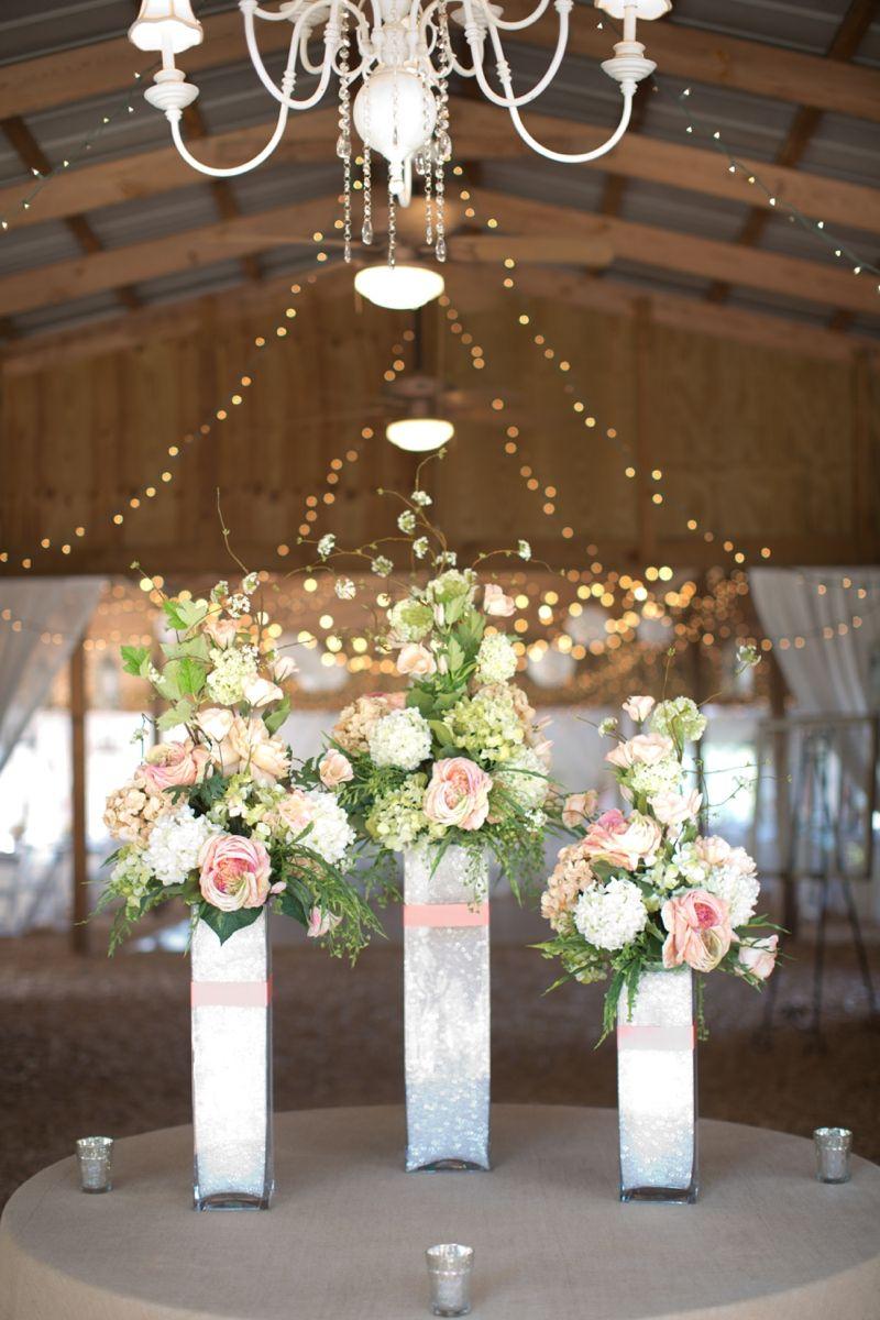 Coral And Sage Green Florida Barn Wedding