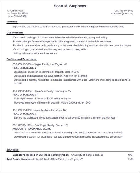 resume ideas - How To Write An Excellent Resume