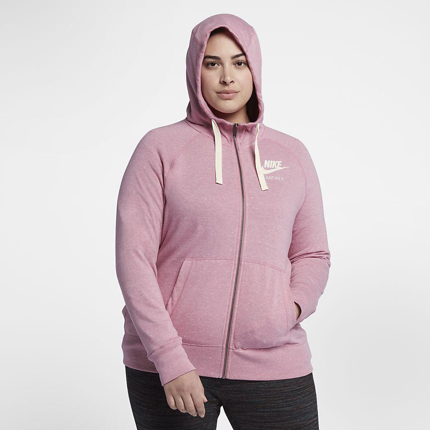 6212dbc8528 Nike Sportswear Gym Vintage (Plus Size) Women s Full-Zip Hoodie ...