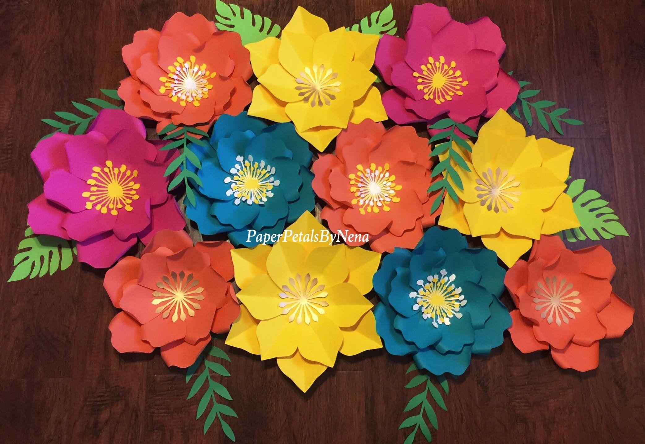 Moana paper flowers moana backdrop moana party decor hawaiian moana paper flowers moana backdrop moana party decor hawaiian birthday party by paperpetalsbynena izmirmasajfo