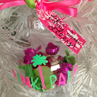 Created this adorable Lilly themed ornament for The Pink Palm's ornament contest #PreppyPlanner