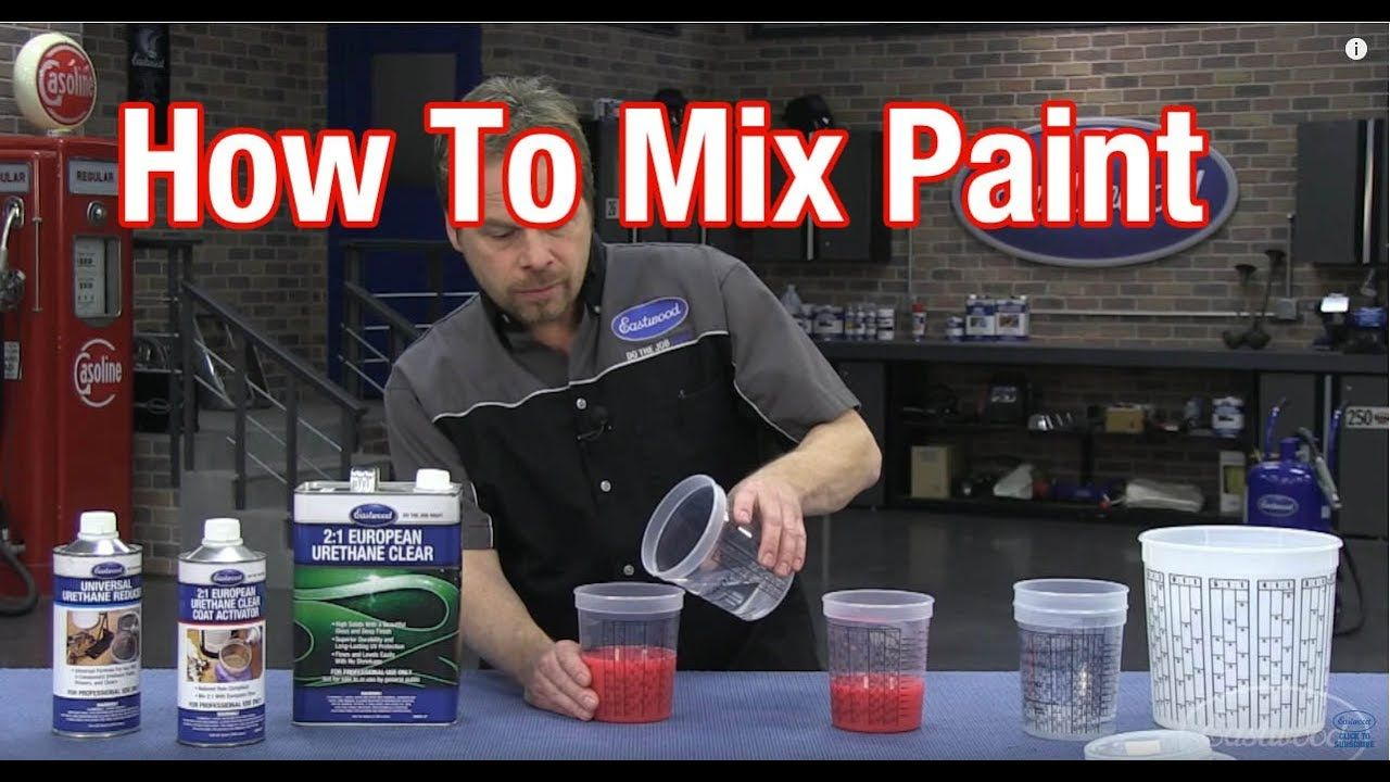 How to mix car paint understanding paint mixing ratios