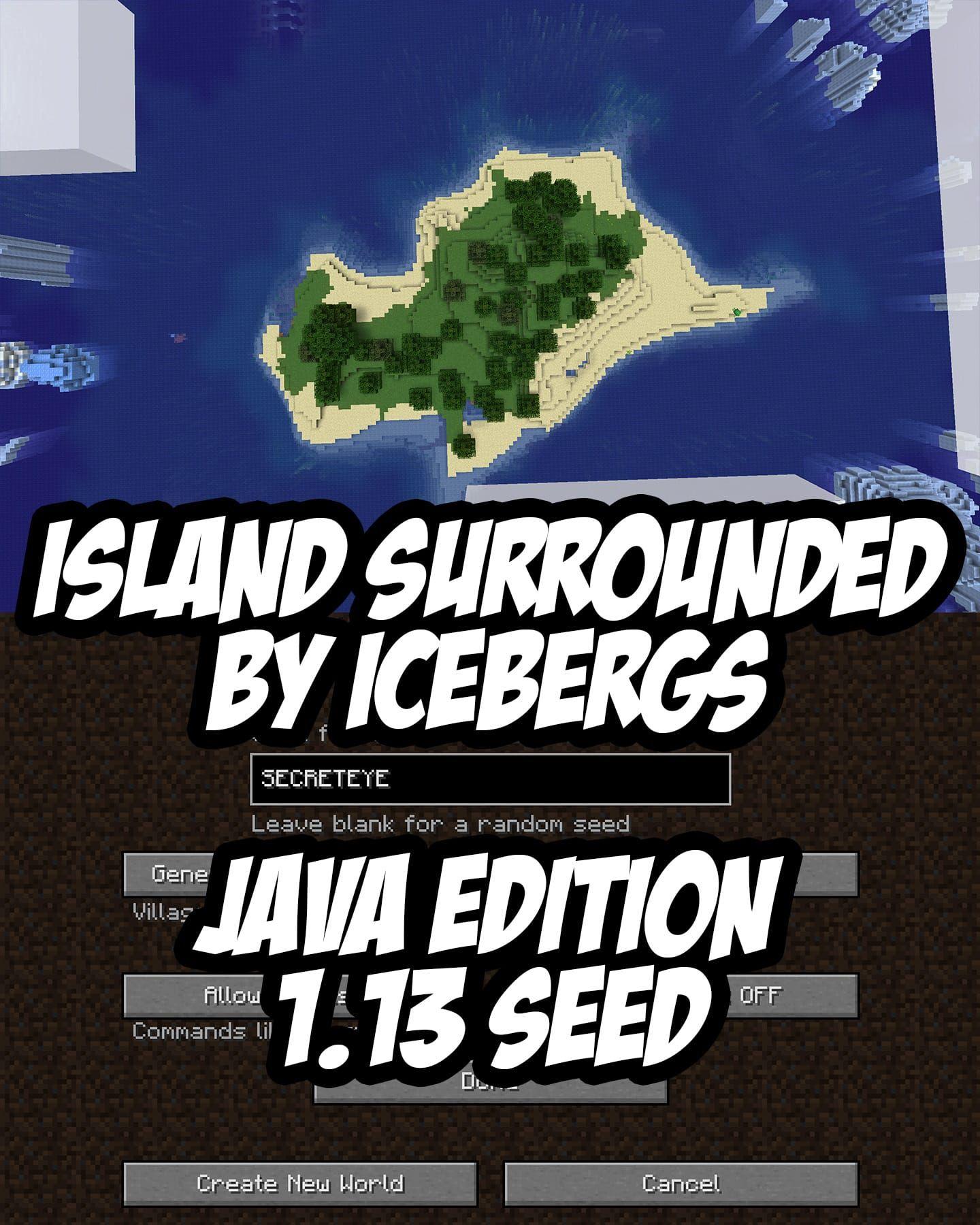 Minecraft Iceberg Seed 1 13 Java Edition Construcciones Minecraft Creaciones De Minecraft Minecraft